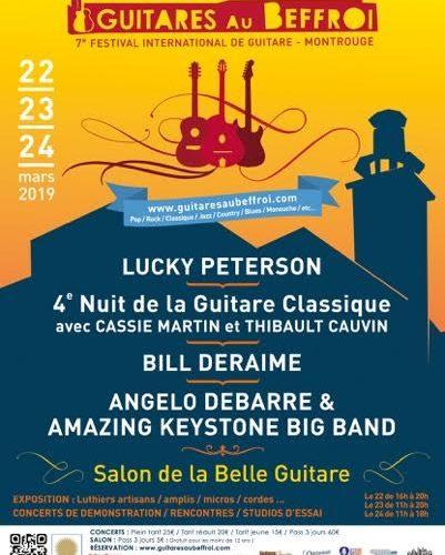 Guitares au Beffroi – du 22 au 24 mars 2019